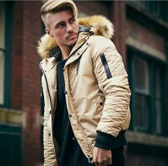 Johnny Edlind Fur Fashion, Male Fashion, Johnny Edlind, Mens Hairstyles With Beard, Character Modeling, Aw17, Parka, How To Look Better, Winter Jackets