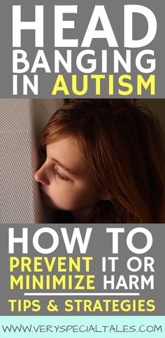 Head Banging in Autism. Head-banging is present at higher rates in kids with autism or cognitive delays. These are important prevention tips that address the most common reasons why kids may self-harm themselves. Social Skills Activities, Autism Activities, Autism Resources, Autism Preschool, Sorting Activities, Autism Classroom, Classroom Setup, Anxiety In Children, Children With Autism