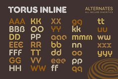 Torus Inline – 6 Font Family by Paulo Goode on @creativemarket