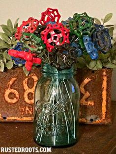Water Spigot Flowers at RustedRoots.com #RustedRoots