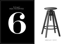 The Everygirl's 10 Favorite Ikea Finds // dalfred stool // $39.99