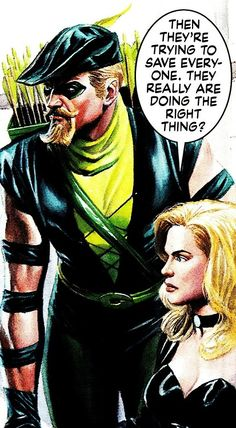 Green Arrow and Black Canary by Alex Ross