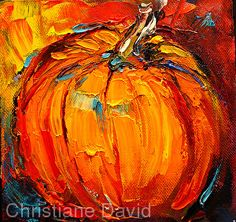 King of the Pumpkins  0903008 by Christiane David Oil ~  x