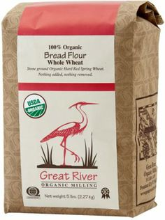 Organic Stone-Ground Whole Wheat Bread Flour - 5 lb. Bag - http://goodvibeorganics.com/organic-stone-ground-whole-wheat-bread-flour-5-lb-bag/