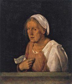 Giorgione - ritratto femminile detto la Vecchia (1506 c) Gallerie dell'Accademia, Venezia