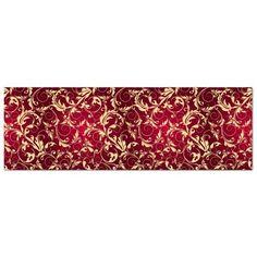 Dieses rote Bild, dass mit Goldmustern verziehrt ist, garantiert königliches Ambiente. Das edle Dekor in noblem Design wertet einen Raum sofort optisch auf.