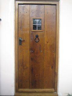 5. Light oak antique solid oak door