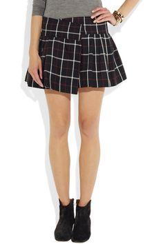Étoile Isabel Marant|Plaid cotton and wool-blend mini skirt|NET-A-PORTER.COM