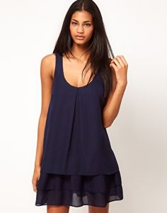 ASOS Swing Dress With Triple Layer