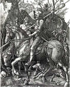 Albrecht Durer, Knight, Death and the Devil, engraving