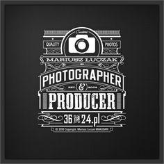 Mariusz Luczak - Photographer by Tomasz Biernat, via Behance   #corporate #branding #creative #logo #personalized #identity #design #corporatedesign < repinned by www.BlickeDeeler.de   Have a look on www.LogoGestaltung-Hamburg.de
