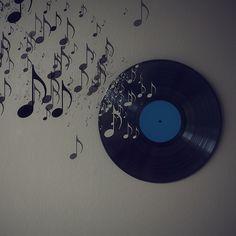 Record Wall Art. #records #vinyl #wallart http://www.pinterest.com/TheHitman14/for-the-record/