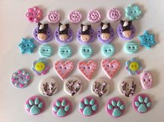 Cute buttons made with Fimo clay