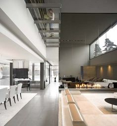 I love how each space is individually defined.    Open-Box-House-by-A-cero-29