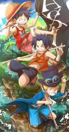 Sabo,Portgas D. Ace,Monkey D. Ruffy - Das Beste Team #MavisChan