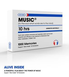 Learn more about how Music over Medication can make us 'Alive Inside' again http://kck.st/KE8gzi