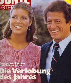 Princess Caroline of Monaco and Philippe Junot.August,1977.