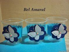 ARTESANATOS DA BEL: Lembrancinhas Borboletas feita com potinhos para c...