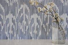 Weft jewel glass mosaic in Quartz and Pearl | New Ravenna