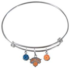 New York Knicks NBA Expandable Wire Bangle Charm Bracelet – SportsJewelryProShop