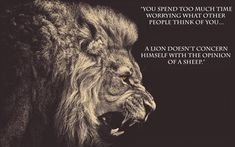 How to be happy - be a lion not a sheep