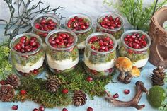 Leśna pokusa - mini deserki szpinakowe z granatem Mojito, Birthday Snacks, Delicious Desserts, Yummy Food, Snack Recipes, Dessert Recipes, Veggie Tray, Best Dishes, Dessert Drinks