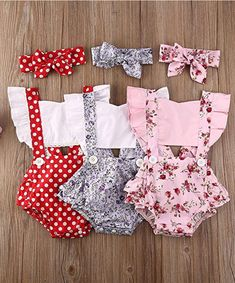 Cotton Blended, soft for infant baby girls: Suitable for Summer Daily Casual Playwear, Family Photo, Wedding Party, Birthday Party, Baby shower gift, Monthly Photos, Beach Vacation ect... A very Cute Baby Girl Dress! #fashionable #baby #clothes Baby Girl Jumpsuit, Baby Girl Romper, Baby Girl Headbands, Baby Girl Newborn, Baby Girls, Ruffle Romper, Jumpsuits For Girls, Girls Rompers, Baby Romper Pattern