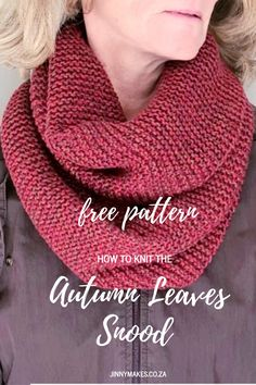 Free pattern on how to knit the beginner easy infinity cowl scarf using knit stitch only & DK yarn. Infinity Scarf Knitting Pattern, Beginner Knitting Patterns, Knitting For Beginners, Knit Patterns, Free Knitting, Start Knitting, Couture, Easy Curtains, Crochet