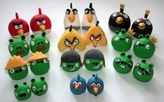 Angry Birds Cake Toppers by allaboutcake, via Flickr