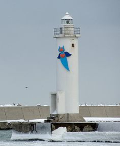 Abashiri East Breakwater Lighthouse, Hokkaido Japan