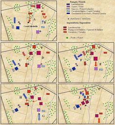A map of the Battle of Pavia.