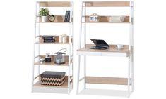 239€ Groupon Goods Global GmbH: Étagère et bureau de direction avec bibliothèque en option design BERG