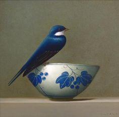 blue - Swallow - painting - still life - Sarah Siltala Gravure Illustration, Bird Illustration, Illustrations, Still Life Art, Bird Art, Beautiful Birds, Oeuvre D'art, Blue Bird, Painting Inspiration