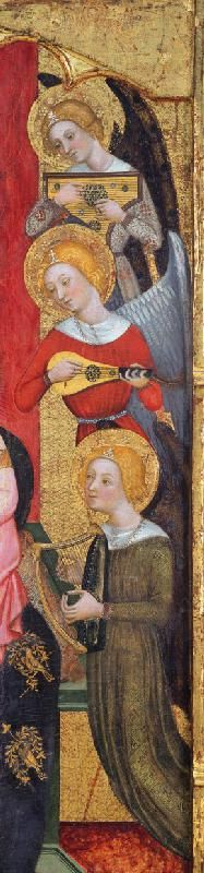 Pere Serra, Madonna with Angels Playing Music (Detail)