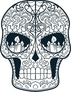 Sugar Skull Advanced Colouring 15 – Coloring pages - Malvorlagen Mandala Skull Coloring Pages, Animal Coloring Pages, Mandala Coloring, Coloring Book Pages, Printable Coloring Pages, Coloring Sheets, Sugar Skull Design, Sugar Skull Art, Sugar Skulls