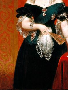 Sadness and classic art, Portrait of Queen Victoria (1819-1901), Detail. ...
