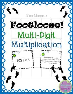 Multi-Digit Multiplication Task Cards -Footloose Activity:This Multi-Digit Multiplication Footloose is a fantastic way to get students moving while they are reviewing concepts. Students enjoy the activity; teachers enjoy the high level of student engagement and the quick/easy preparation that Footloose provides.Multi-Digit Multiplication Footloose addresses CCSS 4.NBT.5, having students multiply a one-digit number by numbers up to four digits long, and multiply 2-digit numbers by 2-digits…