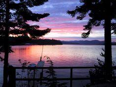 Sunset from Cavanaugh Bay Resort at Priest Lake, Idaho