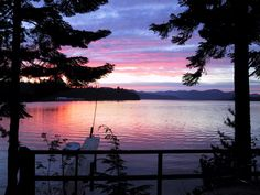 Sunset from Cavanaugh Bay Resort at Priest Lake, Idaho
