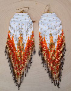 White Flame Earrings by wildmintjewelry on Etsy