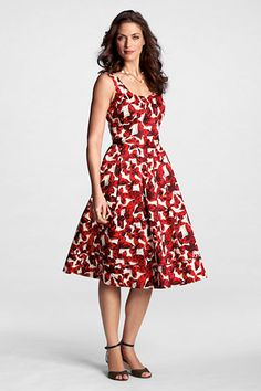 Lands' End butterfly print dress.