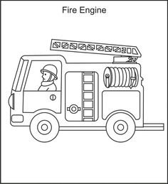 firetruck color pages - Google Search