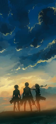Shingeki no Kyojin - Jiyuu wo by nuriko-kun on deviantART (cropped for detail)