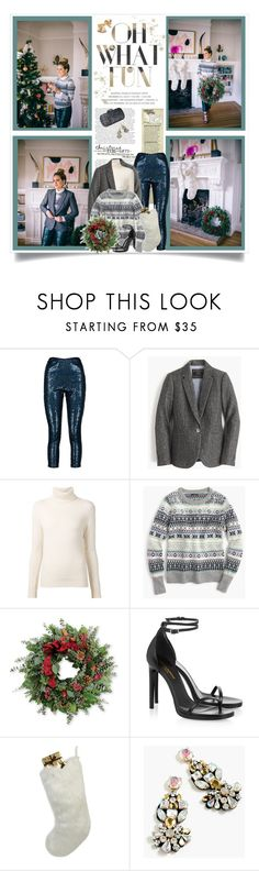 """""""Decorate The Tree"""" by malinda108 ❤ liked on Polyvore featuring Boohoo, J.Crew, Chloé, Thos. Baker, Yves Saint Laurent, Helen Moore, holidaystyle and galmeetsglam"""