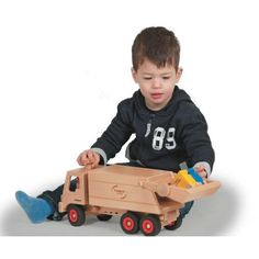 Fagus Wooden Toy Garbage Truck is a study and durable wooden truck that comes with a crew of four who are ready to get to work, picking up the city's trash.