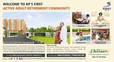 www.saketgroup.com @Saket_group #Hyderabad #Secunderabad #Telangana #India  #SaketPranaam: #Welcome to AP's First #Active #Adult #Retirement #Community.  Saket Engineers Pvt Ltd : Hurry Limited #Flats Available in C Block For Booking Call: 8801033634 or Visit : www.saketgroup.com  For any assistance please Hit Like -> www.facebook.com/saketgroups www.facebook.com/saketbhusattva