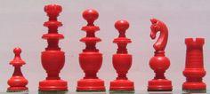 Regency red Chess Set