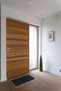 porte d 39 entr e avec lames horizontales r guli res partie haute vitr e 4 carreaux par vantail. Black Bedroom Furniture Sets. Home Design Ideas