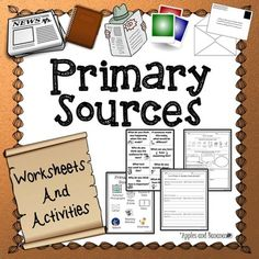 Are you trying to teach your students what primary source documents are and how they are used?  Are you using primary source documents to bridge language arts and social studies/science activities?  This packet helps elementary teachers introduce primary source documents, and distinguish the difference between primary and secondary source documents for their students.Packet includes:*Primary Source Document Poster (1 page)*Primary Source Document Question Cards (for discussion or group…