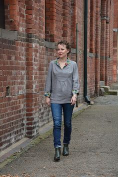 Great version of Nell Shirt, pattern by A Verb for Keeping Warm